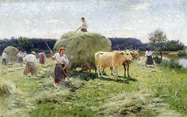 Haymaking, Undated by Mykola Pymonenko | Painting Reproduction