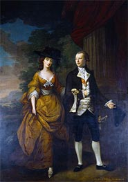 1st Lord Scarsdale and His Wide, Lady Caroline Colyear | Nathaniel Hone | Painting Reproduction