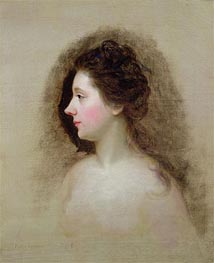 Portrait of Catherine Maria 'Kitty' Fisher, c.1765 by Nathaniel Hone | Painting Reproduction