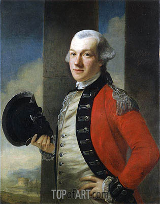 Portrait of Colonel Thomas Aubrey, 1772 | Nathaniel Hone | Painting Reproduction
