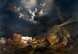 The Annunciation to the Shepherds, 1649 von Nicolaes Berchem | Gemälde-Reproduktion