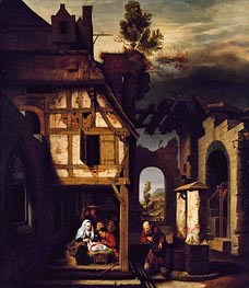 Adoration of the Shepherds, c.1660 von Nicolaes Maes | Gemälde-Reproduktion