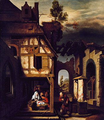 Adoration of the Shepherds, c.1660 | Nicolaes Maes | Painting Reproduction