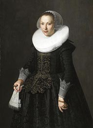 Portrait of a Lady, 1633 by Nicolaes Pickenoy | Painting Reproduction