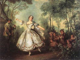 Mademoiselle de Camargo Dancing, 1730 by Nicolas Lancret | Painting Reproduction