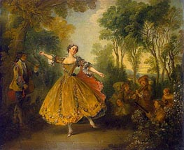 Mlle Camargo Dancing, c.1710/43 by Nicolas Lancret | Painting Reproduction