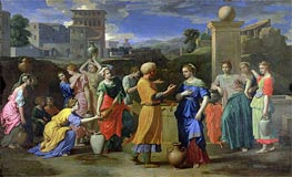 Eliezer and Rebecca at the Well, 1648 by Nicolas Poussin | Painting Reproduction