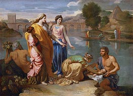The Finding of Moses, 1638 by Nicolas Poussin | Painting Reproduction