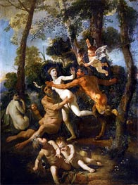 Pan and Syrinx, c.1637/38 by Nicolas Poussin | Painting Reproduction