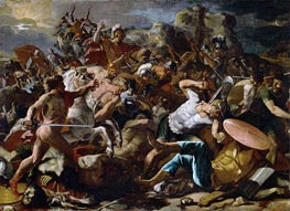 Joshuas Victory over the Amorites, 1624 by Nicolas Poussin | Painting Reproduction
