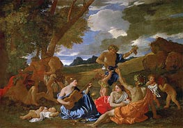 Bacchanalian Scene, c.1627/28 by Nicolas Poussin | Painting Reproduction