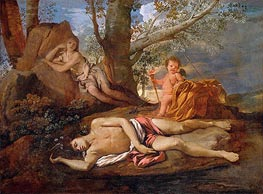 Echo and Narcissus, c.1630 by Nicolas Poussin | Painting Reproduction