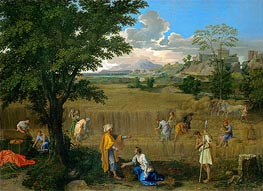 Summer (Ruth and Boaz), c.1660/64 by Nicolas Poussin | Painting Reproduction