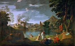 Orpheus and Eurydice | Nicolas Poussin | Painting Reproduction