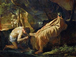 Midas at the Source of the River Pactolus | Nicolas Poussin | Painting Reproduction