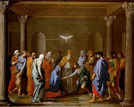 The Marriage of the Virgin | Nicolas Poussin | Gemälde Reproduktion