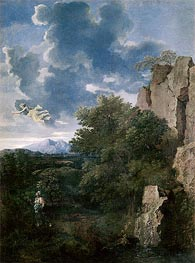 Landscape with Hagar and the Angel | Nicolas Poussin | Gemälde Reproduktion