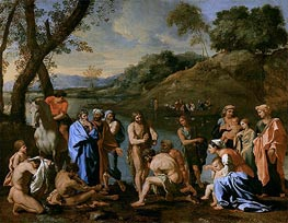 St. John Baptising the People, c.1636/37 by Nicolas Poussin | Painting Reproduction