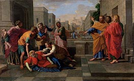 The Death of Sapphira | Nicolas Poussin | Gemälde Reproduktion