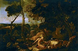 Landscape with Saint Jerome, c.1637 by Nicolas Poussin | Painting Reproduction