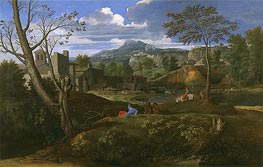 Landscape with Buildings | Nicolas Poussin | Gemälde Reproduktion