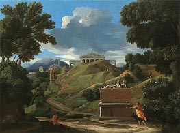Landscape with Ruins, c.1634 by Nicolas Poussin | Painting Reproduction