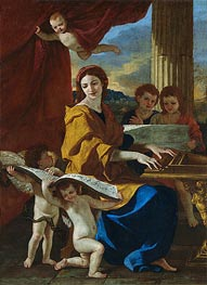 Saint Cecile, c.1635 by Nicolas Poussin | Painting Reproduction