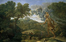 Blind Orion Searching for the Rising Sun, 1658 by Nicolas Poussin | Painting Reproduction