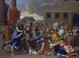 The Abduction of the Sabine Women | Nicolas Poussin | Gemälde Reproduktion