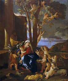 The Rest on the Flight into Egypt, c.1627 by Nicolas Poussin | Painting Reproduction