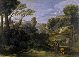 Landscape with Diogenes, 1648 by Nicolas Poussin | Painting Reproduction
