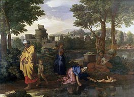 The Exposition of Moses (Moses Set Adrift on the Waters) | Nicolas Poussin | Gemälde Reproduktion