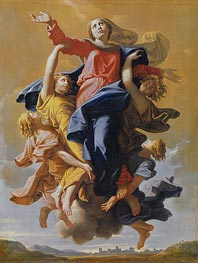 Assumption of the Virgin, c.1649/50 by Nicolas Poussin | Painting Reproduction