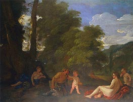 Nymphs and a Satyr (Amor Vincit Omnia), 1625 by Nicolas Poussin | Painting Reproduction
