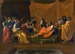 The Infant Moses Trampling Pharoah's Crown, c.1645/48 by Nicolas Poussin | Painting Reproduction