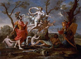 Venus Arming Aeneas, 1639 by Nicolas Poussin | Painting Reproduction