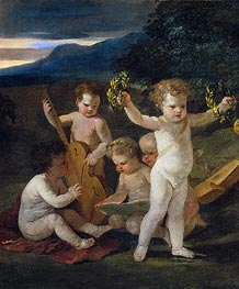 Concert of Cupids | Nicolas Poussin | Painting Reproduction