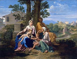 The Holy Family with Saint John and Saint Elizabeth in a Landscape | Nicolas Poussin | Painting Reproduction