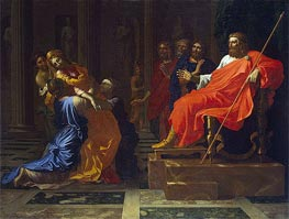 Esther before Ahasuerus | Nicolas Poussin | Painting Reproduction