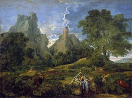 Landscape with Polyphemus, 1649 by Nicolas Poussin | Painting Reproduction