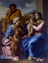 Holy Family with St Elizabeth and John the Baptist | Nicolas Poussin | Gemälde Reproduktion
