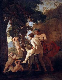 Venus, Faun and Putti, c.1630/33 by Nicolas Poussin | Painting Reproduction