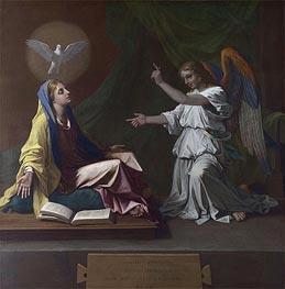 The Annunciation | Nicolas Poussin | Gemälde Reproduktion