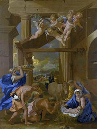 The Adoration of the Shepherds | Nicolas Poussin | Gemälde Reproduktion