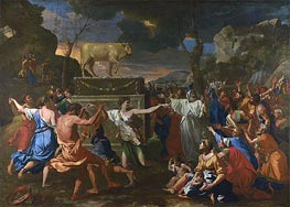 The Adoration of the Golden Calf | Nicolas Poussin | Gemälde Reproduktion
