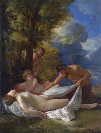 Nymph with Satyrs | Nicolas Poussin | Gemälde Reproduktion