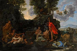 The Infant Bacchus Entrusted to the Nymphs of Nysa | Nicolas Poussin | Gemälde Reproduktion