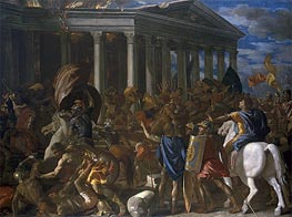 The Destruction and Sack of the Temple of Jerusalem | Nicolas Poussin | Painting Reproduction