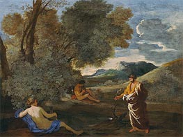 Numa Pompilius and the Nymph Egeria | Nicolas Poussin | Painting Reproduction