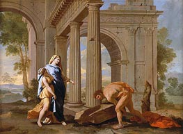 Theseus Finds the Sword of His Father | Nicolas Poussin | Painting Reproduction